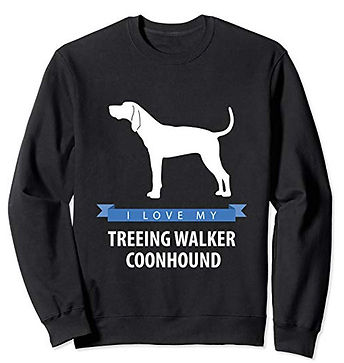 White-Love-sweatshirt-Treeing-Walker-Coo