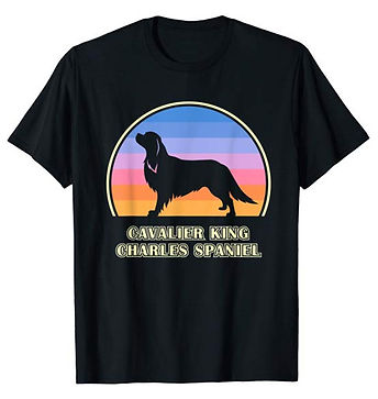 Vintage-Sunset-tshirt-Cavalier-King-Char