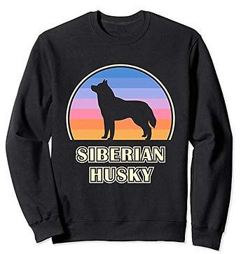 Vintage-Sunset-Sweatshirt-Siberian-Husky