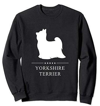 White-Stars-Sweatshirt-Yorkshire-Terrier