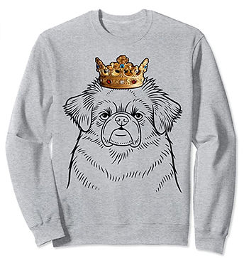 Tibetan-Spaniel-Crown-Portrait-Sweatshir