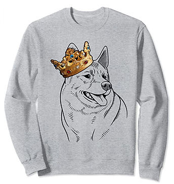 Norwegian-Elkhound-Crown-Portrait-Sweats