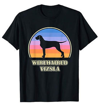 Vintage-Sunset-tshirt-Wirehaired-Vizsla.