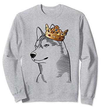 Siberian-Husky-Crown-Portrait-Sweatshirt