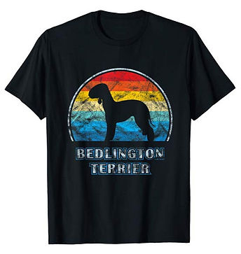 Vintage-Design-tshirt-Bedlington-Terrier