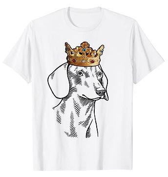 Dachshund-Smooth-Crown-Portrait-tshirt.j