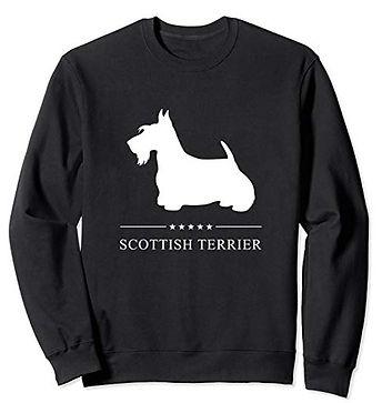 White-Stars-Sweatshirt-Scottish-Terrier.
