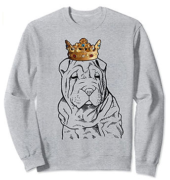 Chinese-Shar-Pei-Crown-Portrait-Sweatshi