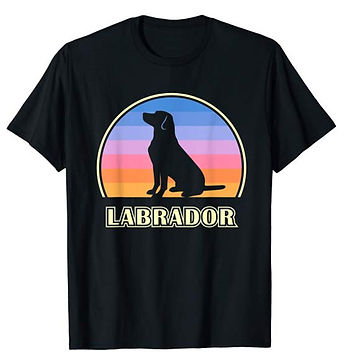 Vintage-Sunset-tshirt-Labrador-Retriever