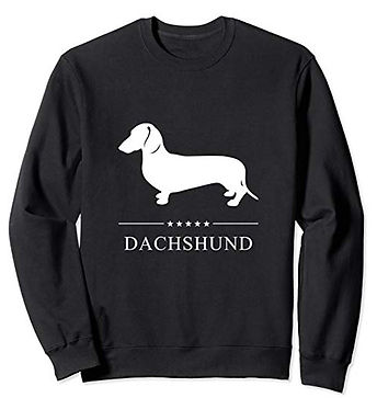 White-Stars-Sweatshirt-Smooth-Dachshund.