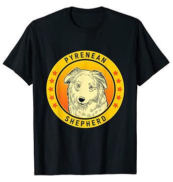 Pyrenean-Shepherd-Portrait-Yellow-tshirt