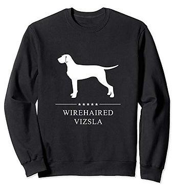 White-Stars-Sweatshirt-Wirehaired-Vizsla