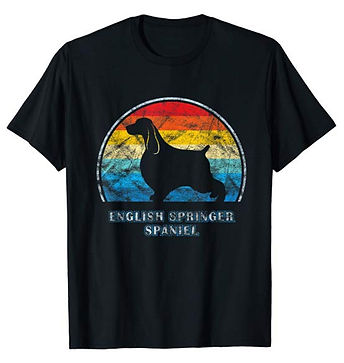 Vintage-Design-tshirt-English-Springer-S