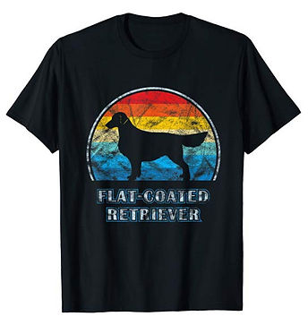 Vintage-Design-tshirt-Flat-Coated-Retrie