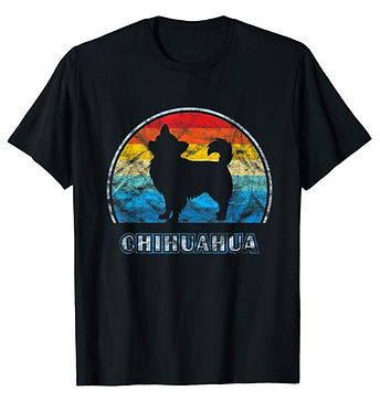 Vintage-Design-tshirt-Longhaired-Chihuah