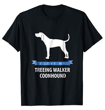 White-Love-tshirt-Treeing-Walker-Coonhou