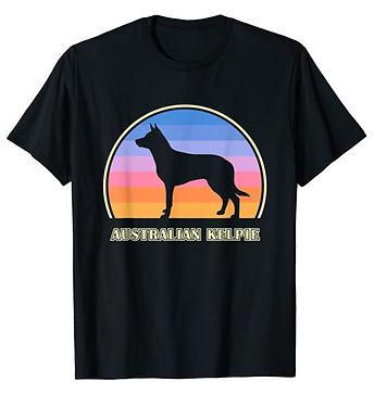 Australian-Kelpie-Vintage-Sunset-tshirt.