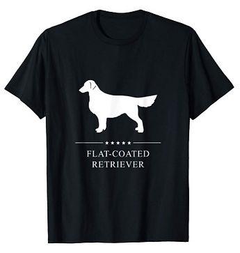 Flat-Coated-Retriever-White-Stars-tshirt