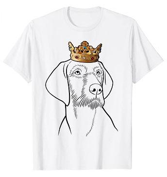 Wirehaired-Vizsla-Crown-Portrait-tshirt.