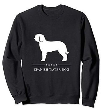 White-Stars-Sweatshirt-Spanish-Water-Dog