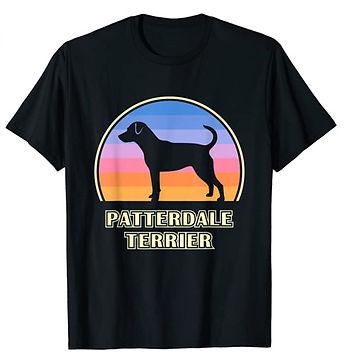 Patterdale-Terrier-Vintage-Sunset-tshirt
