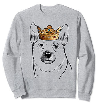 Norwegian-Buhund-Crown-Portrait-Sweatshi