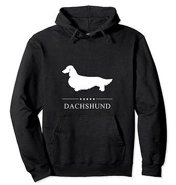 Dachshund-Longhaired-White-Stars-Hoodie.