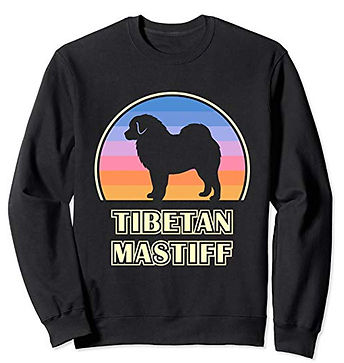 Vintage-Sunset-Sweatshirt-Tibetan-Mastif