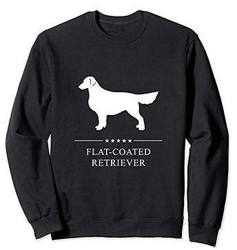 White-Stars-Sweatshirt-Flat-Coated-Retri
