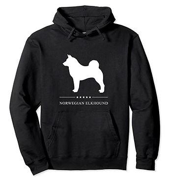 Norwegian-Elkhound-White-Stars-Hoodie.jp