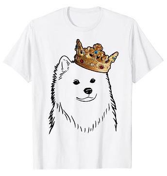 American-Eskimo-Dog-Crown-Portrait-tshir