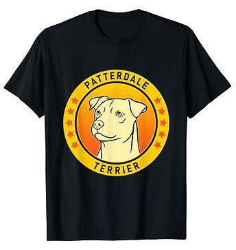 Patterdale-Terrier-Portrait-Yellow-tshir