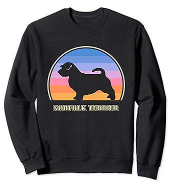 Vintage-Sunset-Sweatshirt-Norfolk-Terrie