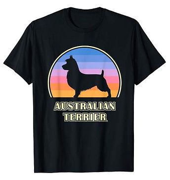 Vintage-Sunset-tshirt-Australian-Terrier