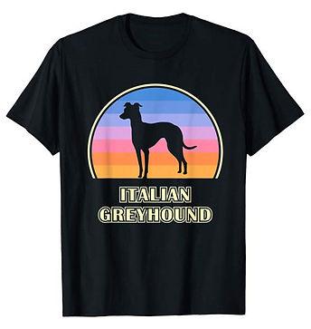 Vintage-Sunset-tshirt-Italian-Greyhound.