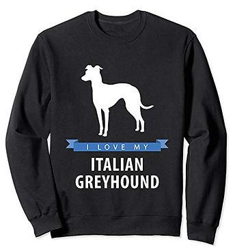 White-Love-sweatshirt-Italian-Greyhound.
