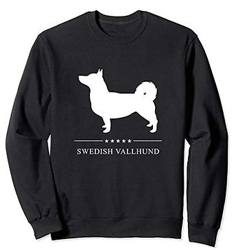 White-Stars-Sweatshirt-Swedish-Vallhund.