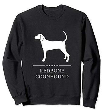 White-Stars-Sweatshirt-Redbone-Coonhound