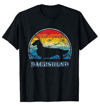 Vintage-Design-tshirt-Longhaired-Dachshu