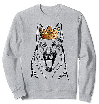 German-Shepherd-Crown-Portrait-Sweatshir