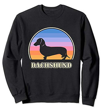 Vintage-Sunset-Sweatshirt-Smooth-Dachshu