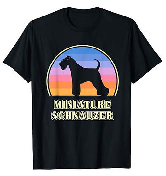 Vintage-Sunset-tshirt-Miniature-Schnauze