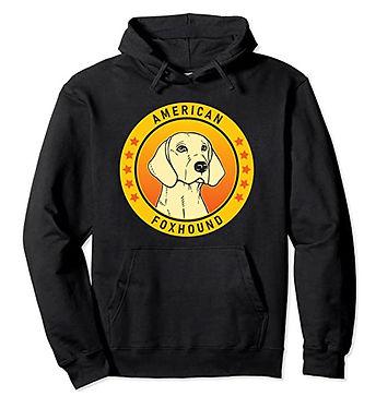 American-Foxhound-Portrait-Yellow-Hoodie