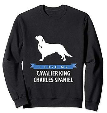 White-Love-sweatshirt-Cavalier-King-Char