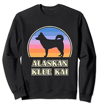 Alaskan-Klee-Kai-Vintage-Sunset-Sweatshi