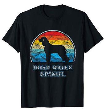 Vintage-Design-tshirt-Irish-Water-Spanie