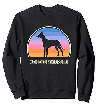 Vintage-Sunset-Sweatshirt-Xoloitzcuintli