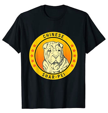 Chinese-Shar-Pei-Portrait-Yellow-tshirt.