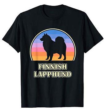 Vintage-Sunset-tshirt-Finnish-Lapphund.j