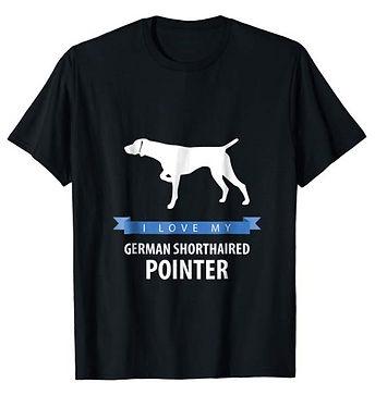 White-Love-tshirt-German-Shorthaired-Poi